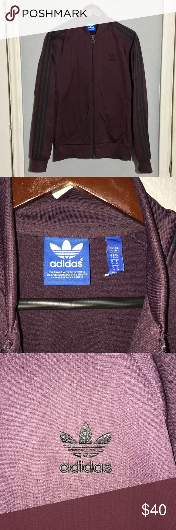 Adidas Superstar Jacket Adidas Superstar Jacket Men's Medium Size  Excellent Condition The color is dark maroon adidas Jackets & Coats Bomber & Varsity