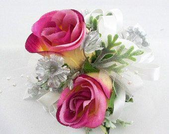 Ramillete de la muñeca rosa, ramillete de rosa, flores de la boda, ramillete de la madre, baile ramillete, ramillete de la muñeca, ramillete rosa polvoriento, madre de la novia