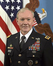 "CJCS (USA) - General Martin Dempsey - Chairman of the Joint Chiefs of Staff (CJCS) from October 1, 2011 to October 1, 2015.  Some critics called him a reluctant warrior, but Dempsey is satisfied with a legacy of caution.  During his command he kept a box inscribed with ""Make it matter ..."" containing all the names of the servicemembers who died under his command.  Source: ""Outgoing Joint Chiefs Chairman Martin Dempsey Reflects on His Toughest Day on the Job"" by Veronica Stracqualursi."