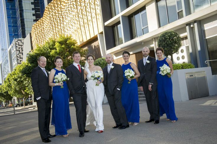 Claire, Curtis and their wedding party. Photographed by Marc Grist Photography #wedding #weddingphotography #weddingparty #groupshot #marcgristphotography.