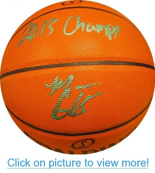 Mario Chalmers 2013 Champs Autographed Hybrid Basketball