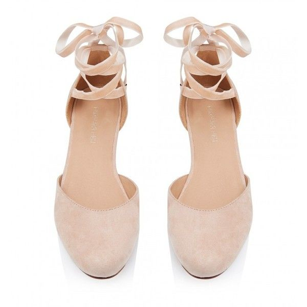 Frankie Ankle Tie Ballet Flats ($35) ❤ liked on Polyvore featuring shoes, flats, ballet pumps, skimmer shoes, ankle wrap flats, ankle strap shoes and ballerina shoes