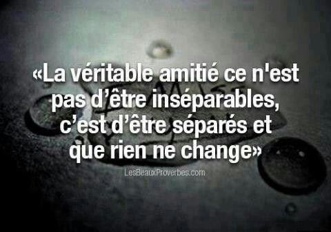 Amitié...