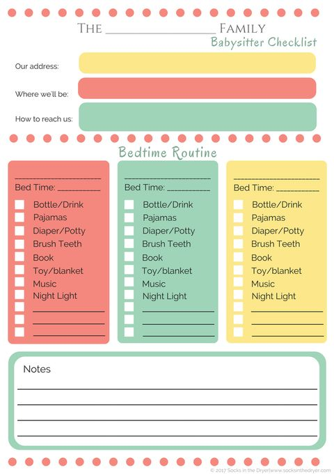 the only babysitter checklist you u0026 39 ll ever need