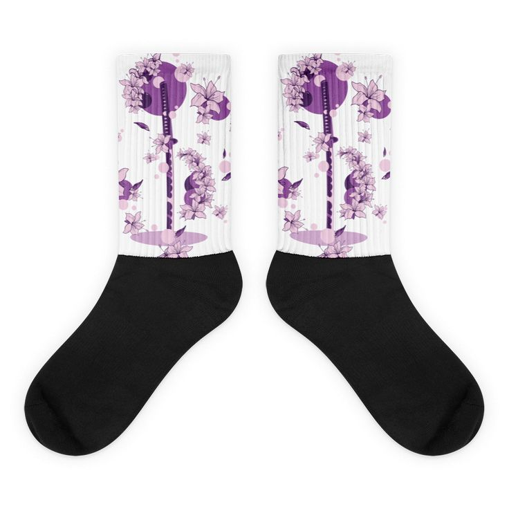 Purple Katana Black foot socks