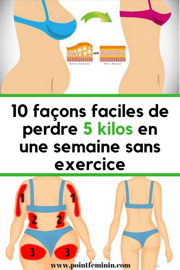 10 façons faciles de perdre 5 kilos en une semaine sans exercice! | Idée pour perdre du poids ...