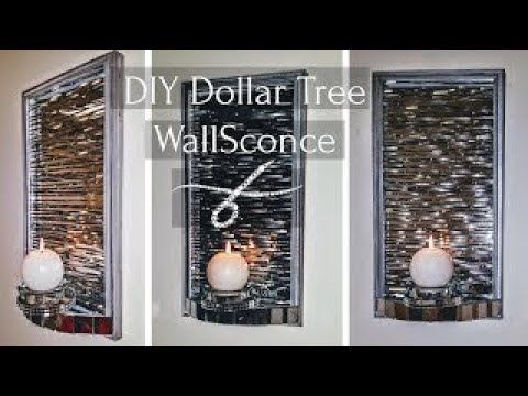 Diy Dollar Tree Metal Wall Sconce Candle Holder Z