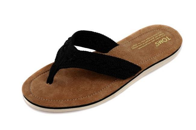 New Arrival Toms slippers black