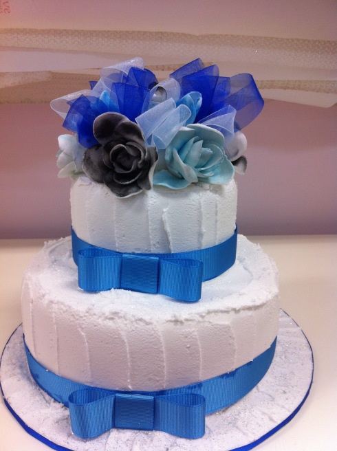 Two Tier Red Velvet Mud Cake with edible roses