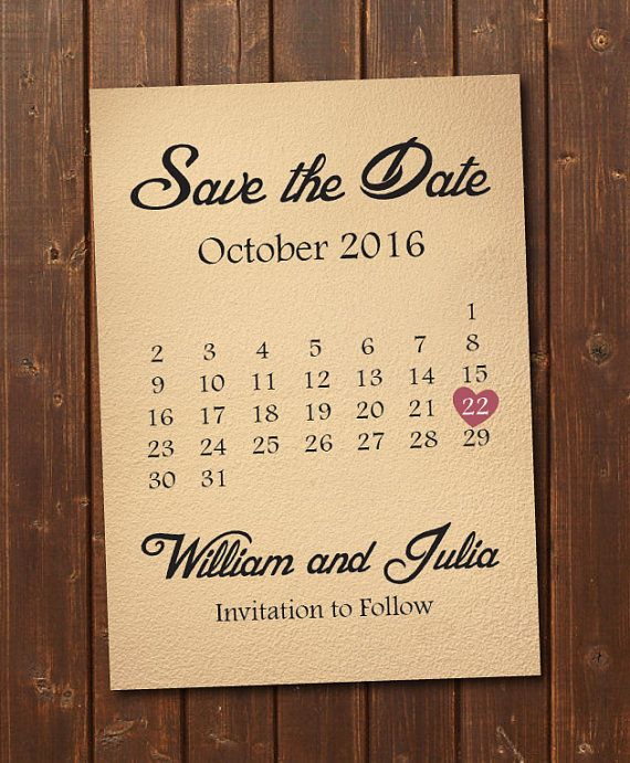 Save the Date Calendar Template/Save the Date Postcard Printable/Save the Date Announcement/Save the Date Card Printable/Instant Download