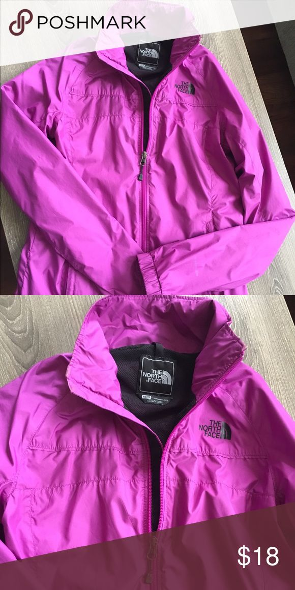 North Face Windbreaker Zip Up Previously Loved North Face Purple Zip Up North Face Jackets & Coats