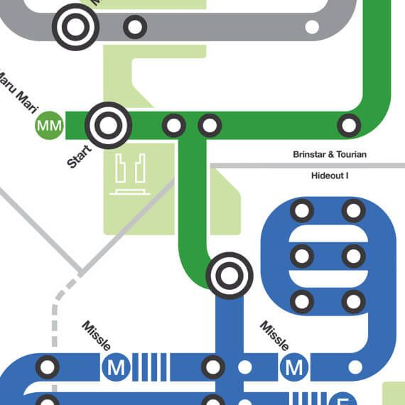 Videogame Maps (NES) as Tubemaps/Subway Maps #metroid #zelda #map