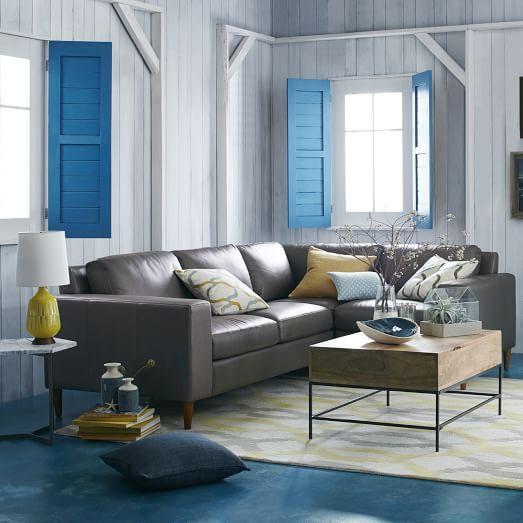 York sectional set 3 corner left arm loveseat right for Sectional sofa redo