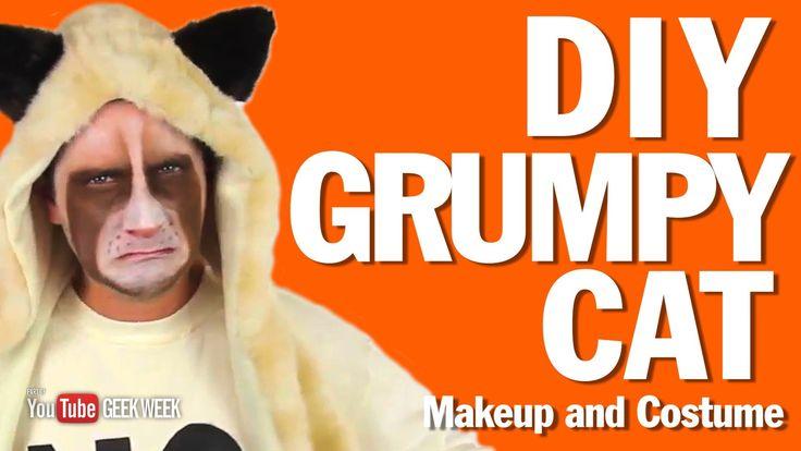 DIY Grumpy Cat Makeup and Spirit Hood How To - GEEK WEEK