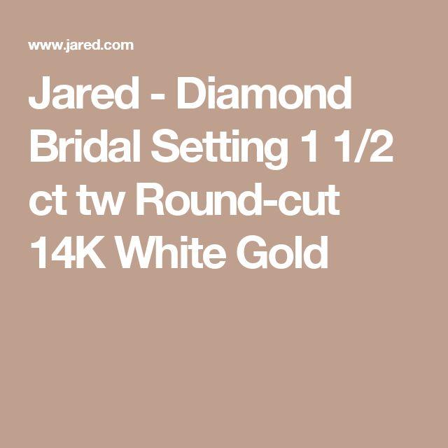 Jared - Diamond Bridal Setting 1 1/2 ct tw Round-cut 14K White Gold