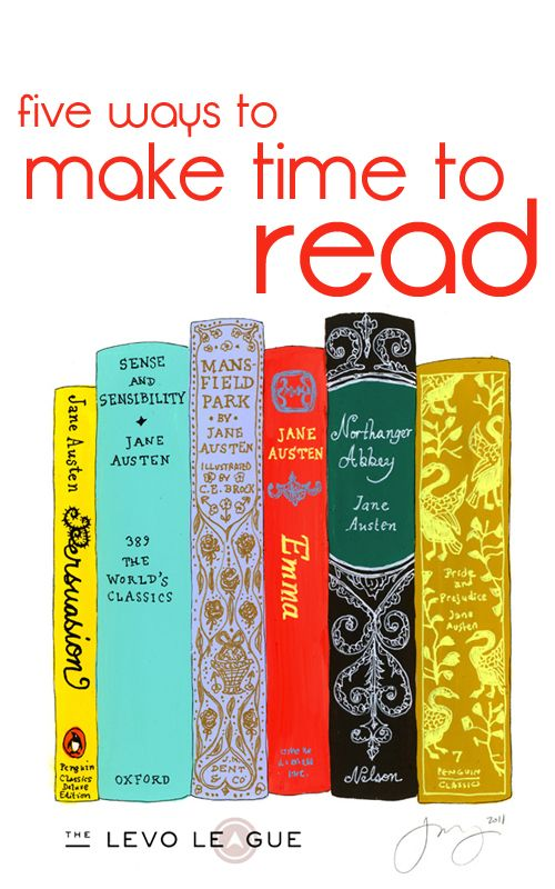 Five ways to make time to read