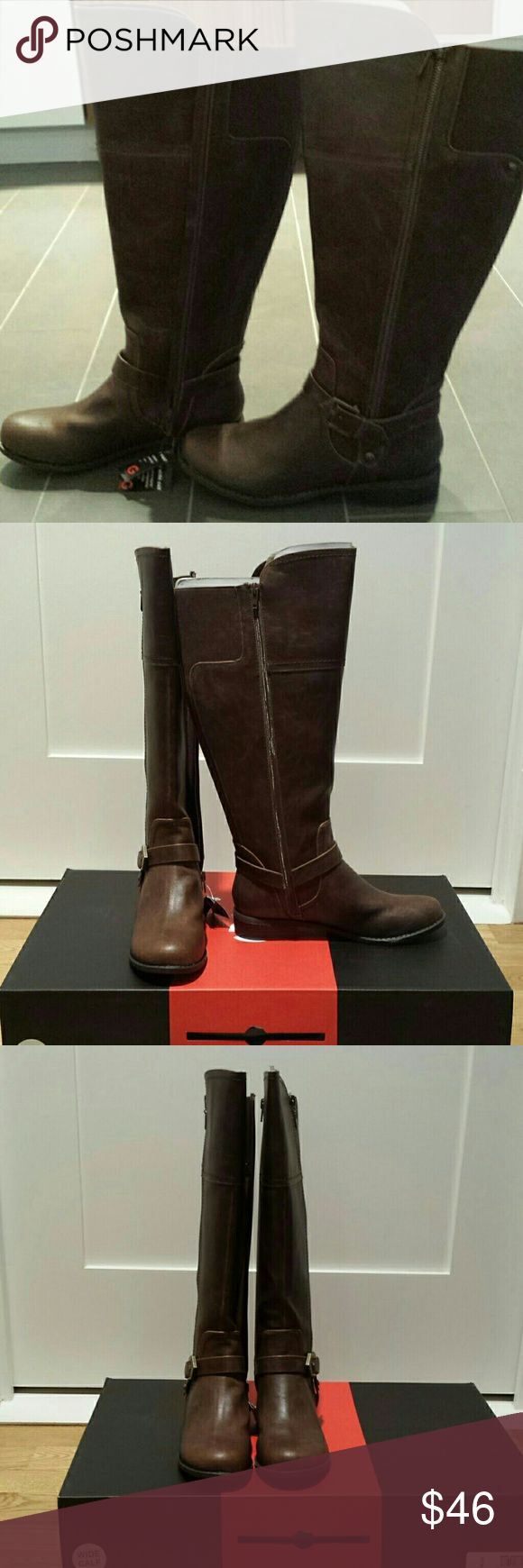 G by guess womens wide calf boots Wide calf riding boots  runs small if you wear 8 this is the right size for you G by Guess Shoes Over the Knee Boots