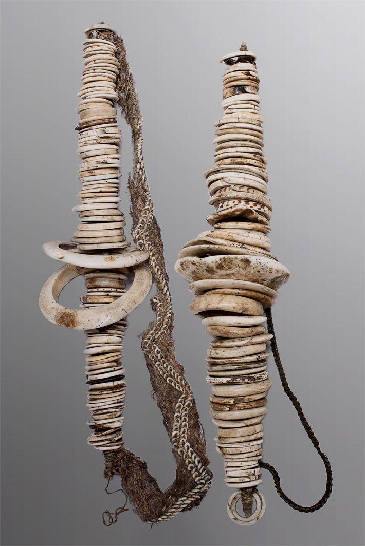 Pair of Boiken Money Sticks Oceanic Art Papua New Guinea Art