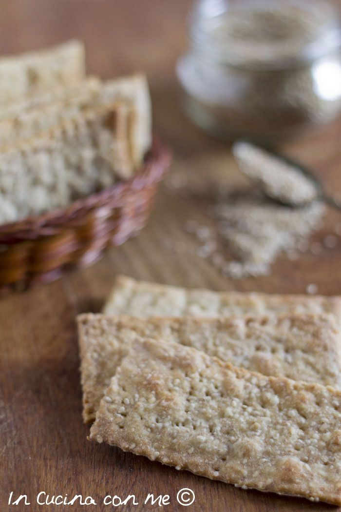 Crackers ai semi di sesamo - In Cucina con Me