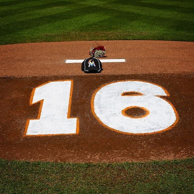 This mound will always belong to No. 16...Miami Marlins pitcher Jose Fernandez