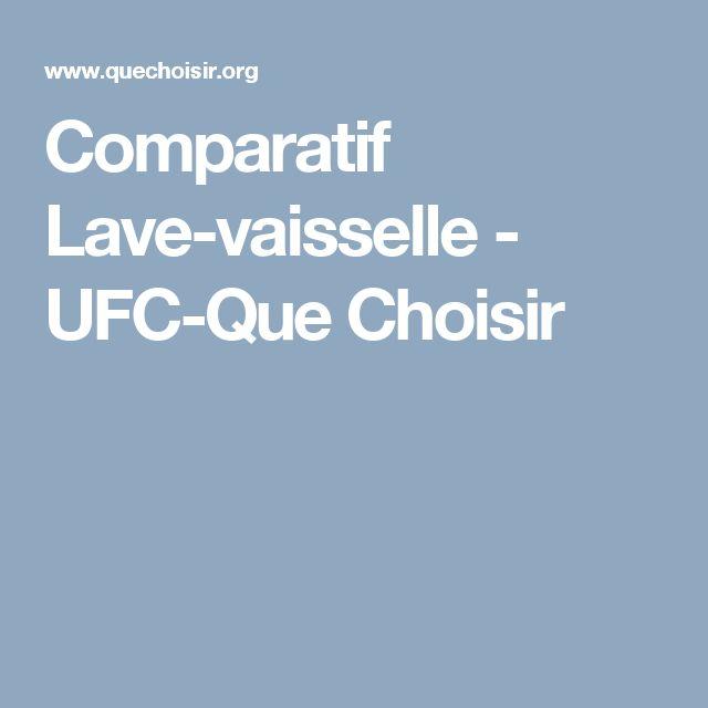 Comparatif Lave-vaisselle - UFC-Que Choisir
