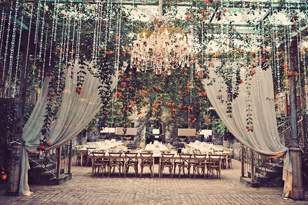 fairytale reception, photo by Tamiz Photography http://ruffledblog.com/haiku-mill-wedding #weddingreception #receptions