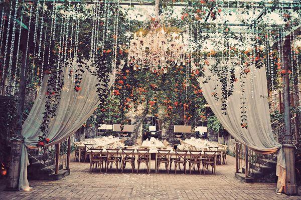 fairytale reception, photo by Tamiz Photography http://ruffledblog.com/haiku-mill-wedding #weddingreception #receptions