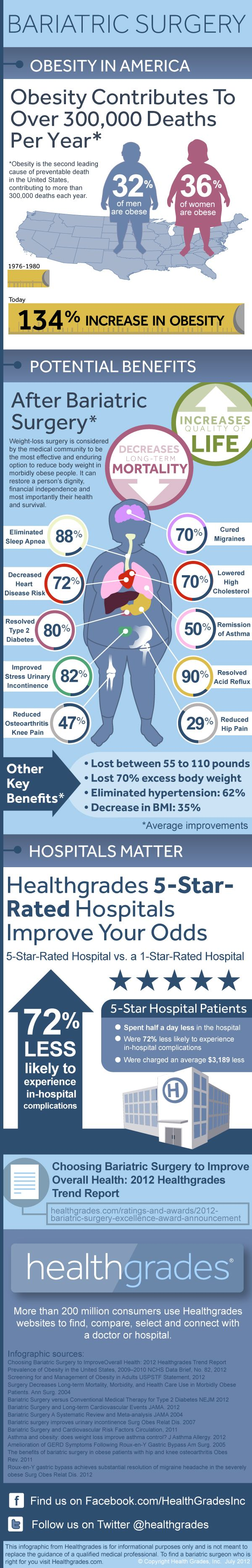 Bariatric Overview Info Graphic. Good Information about Weight Loss Surgery