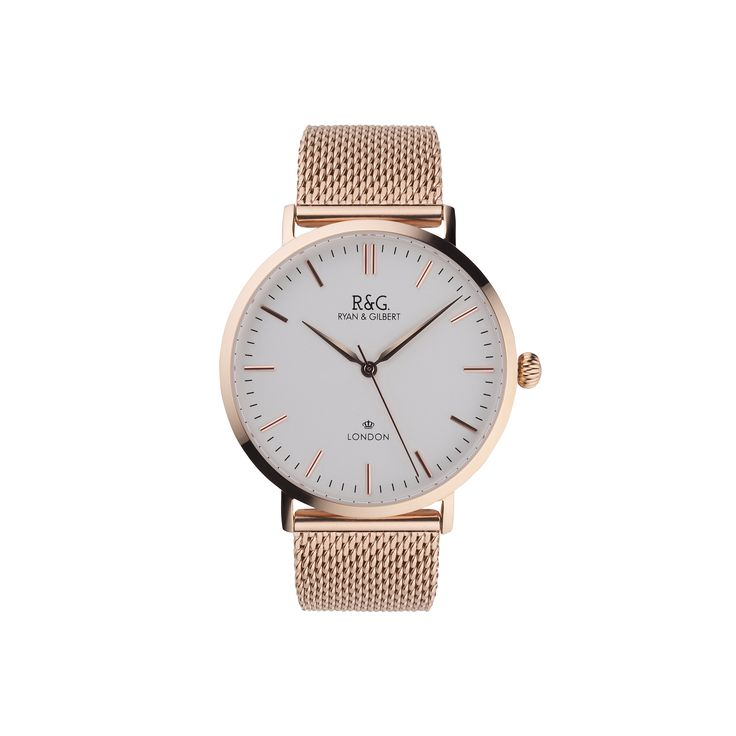 Belgravia in English Rose Gold with White Dial.