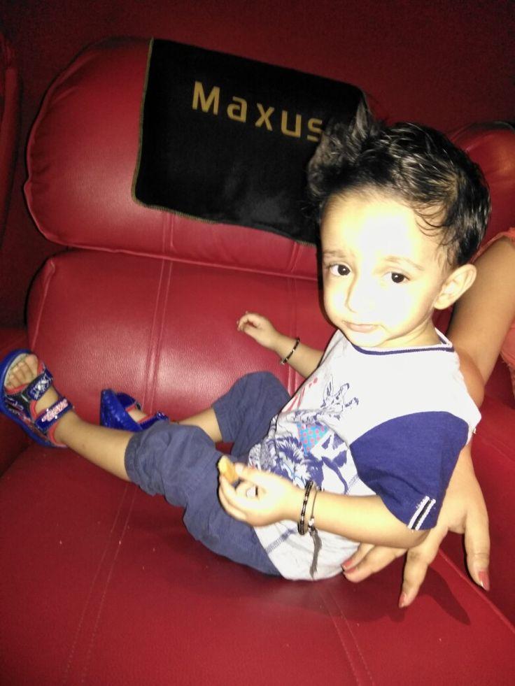 Baby is enjoy Jaaga Jasos movie at Maxus Bhayander