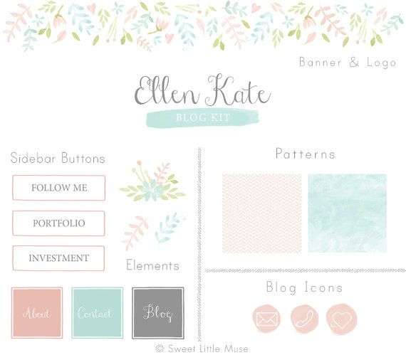 Blog Kit Branding Kit website banner web by SweetLittleMuse