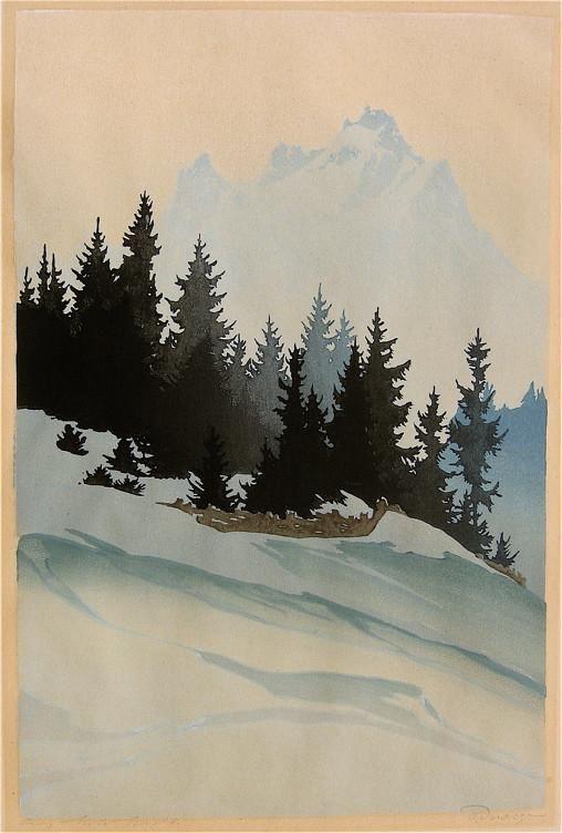"""""""Mountain Spruce in Winter"""" by Oscar Droege"""