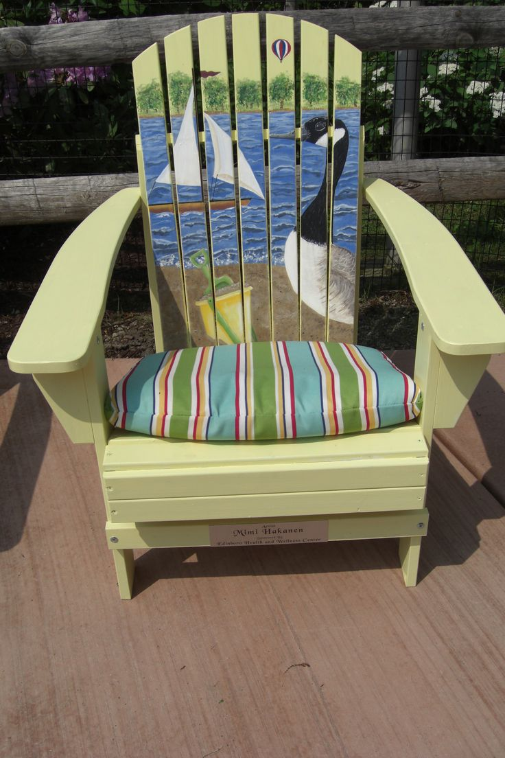 21 Best Painted Adirondack Chairs Images On Pinterest