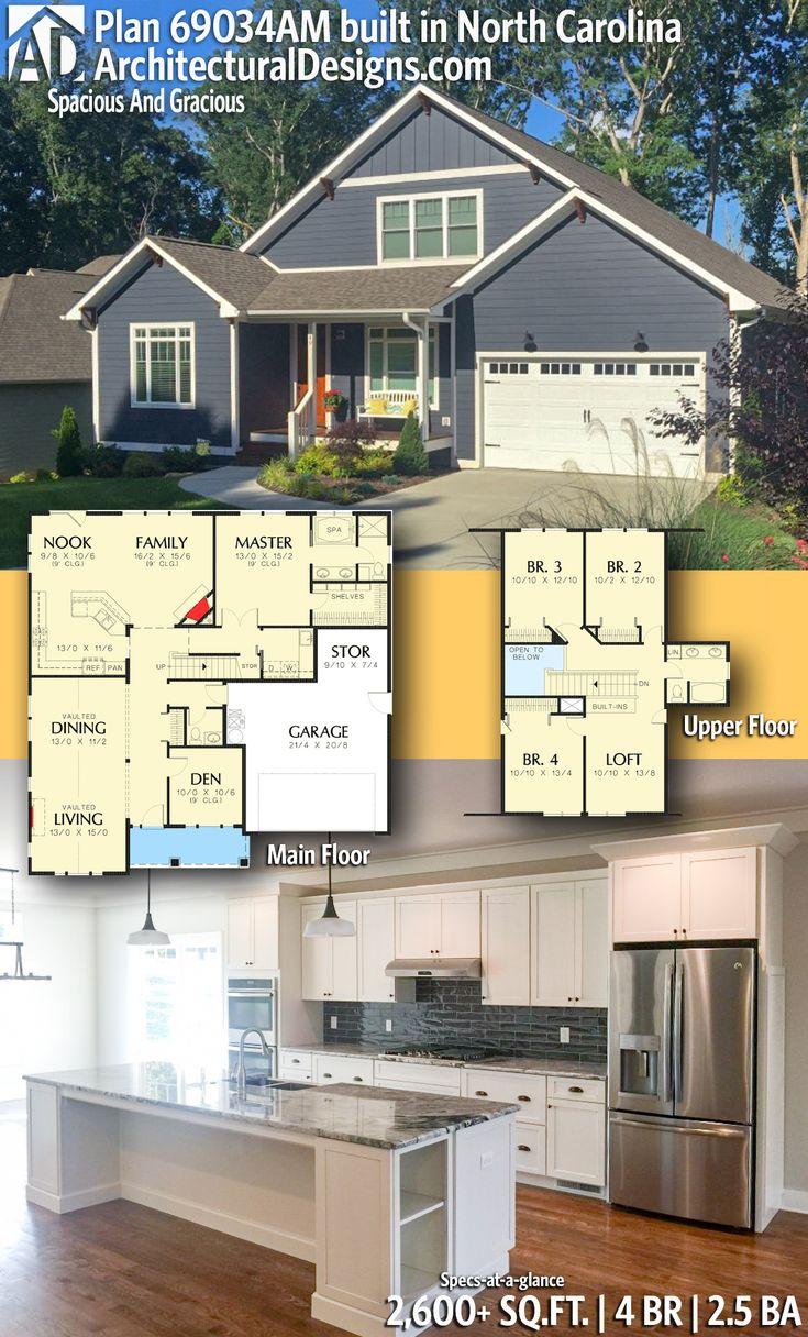 Architectural Designs House Plan 69034AM client built in