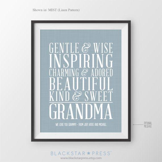 Christmas Gift for Grandmother Gift for Grandma Gift for