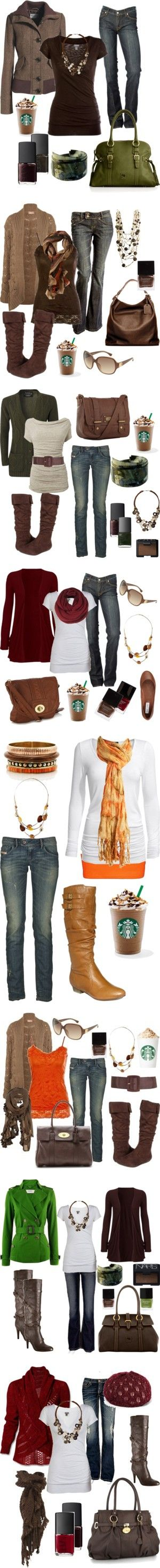 Love these fall looks! Starbucks as an accessory??? Yep!