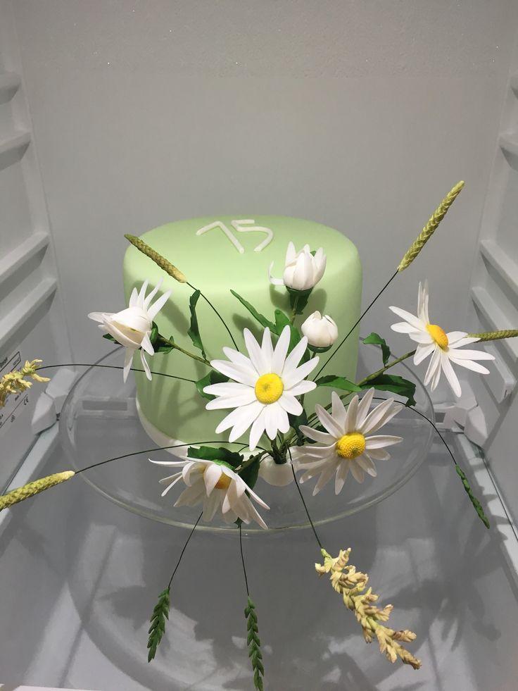 Flowers Cake, Daisy Cake, kvetinovy dort, kopretiny