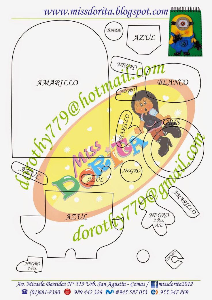 Miss Dorita: Molde Agenda de Minions