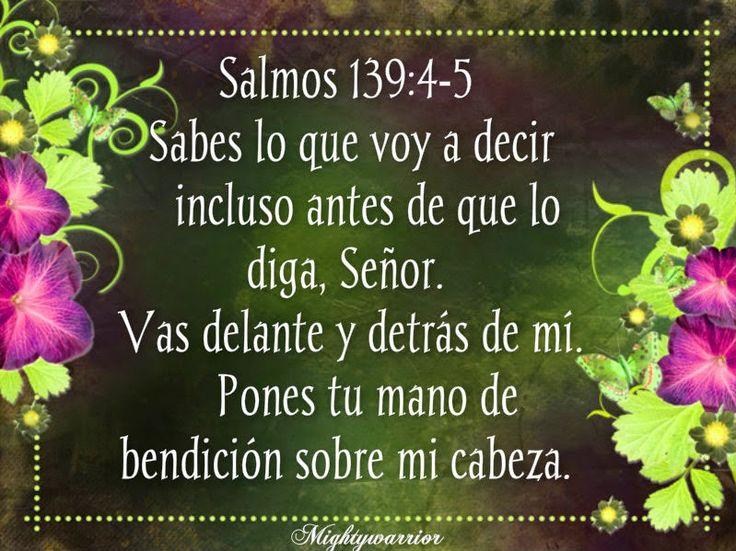"""JESUS PODEROSO GUERRERO: Salmos 139:4-5~~~"""" Dios lo sabe todo """""""