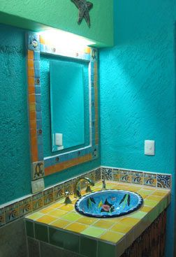 107 best decoraci n para el ba o images on pinterest for Mexican themed bathroom ideas