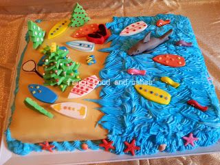 Torta Surfer's Christmas - Surfer's Christmas Cake  by Fancy Food and Cakes