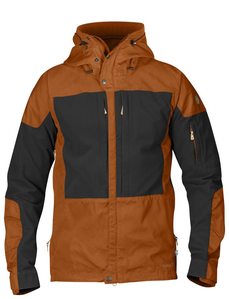Well-ventilated outdoor jacket for long mountain treks in varying terrain, when freedom of movement is just as important as durability.