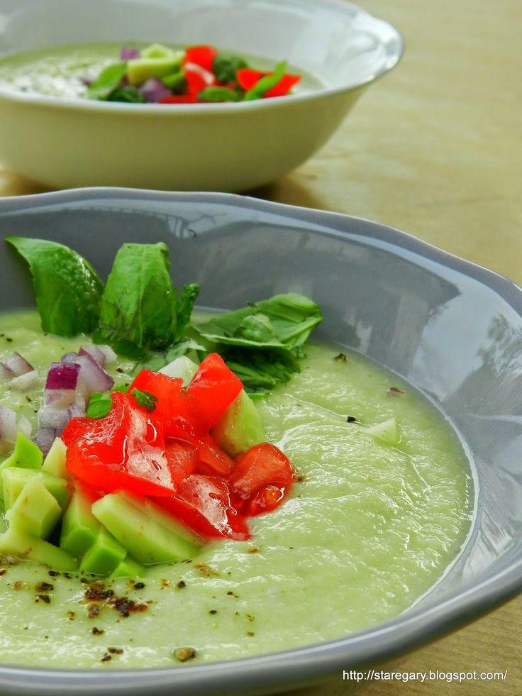 Zupa z awokado i ogórków - chłodnik