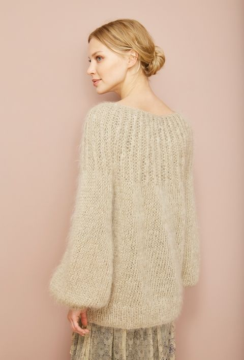(via Mes Demoiselles… Paris - Lueur) - Purl on Pearl. Mohair fucsia