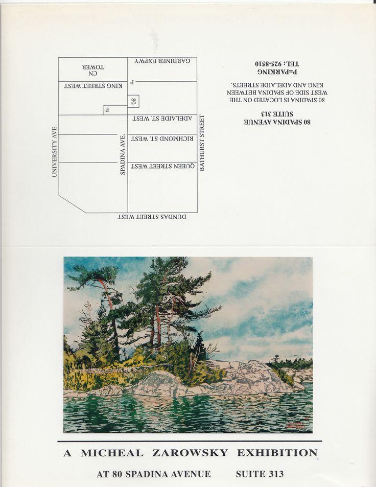 zarowsky watercolours - killarney at  80 spadian suite 313, toronto