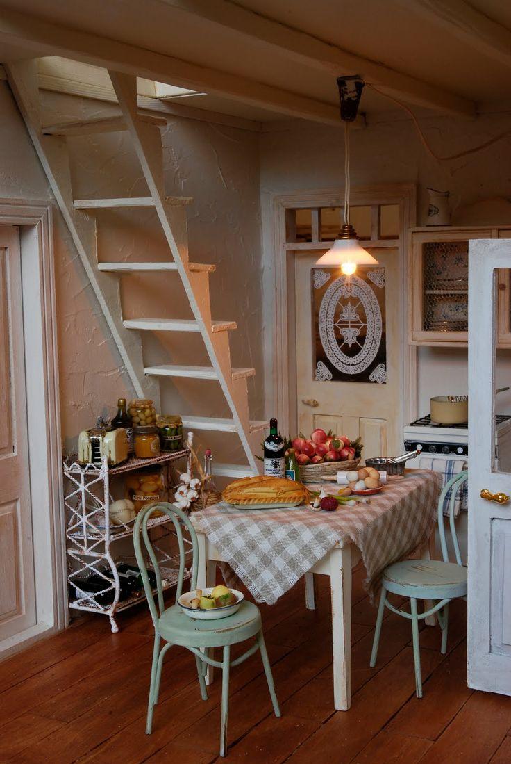 Er moet wel een trap komen in het huis naar de 1e verdieping. Even kijken waar die gaat passen....ik denk rechts in de keuken.
