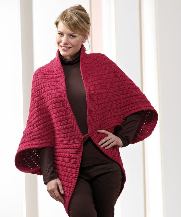Poncho Jacket Knitting Pattern : 45 best images about Crochet Ponchos/Sweaters on Pinterest Circles, Crochet...