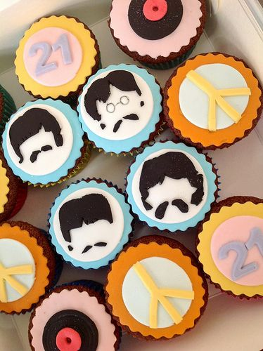 The Beatles themed cupcake set
