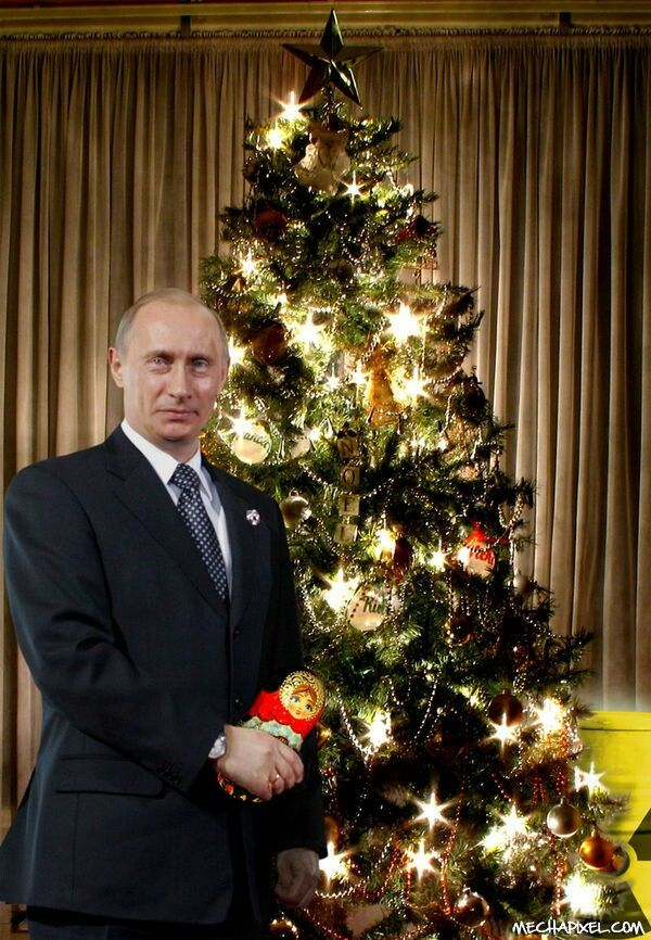 A Beautiful Christmas Photograph Of Our President ♡ Vladimir Putin ♡