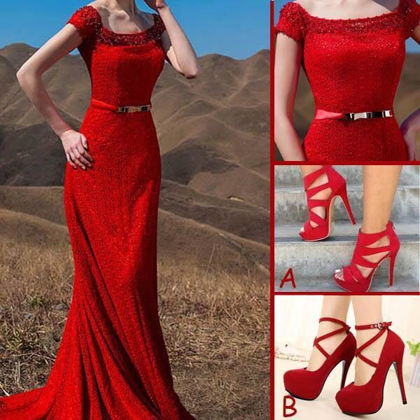Lady in red
